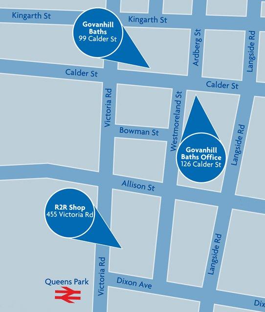 Govanhill street map